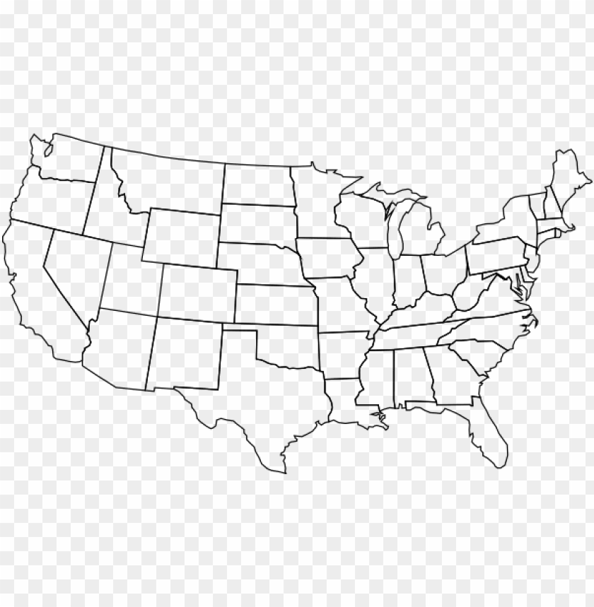 free PNG icture freeuse download blank state large of the - blank map of us PNG image with transparent background PNG images transparent