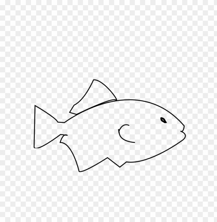 Icture Freeuse Library Bass Fish Clipart Fish Outline Png