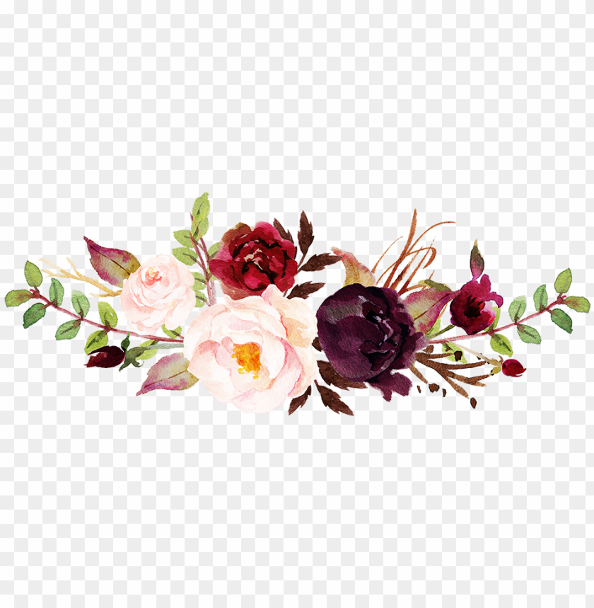 Icture High Resolution Png Watercolor Flowers Background Png Image With Transparent Background Toppng