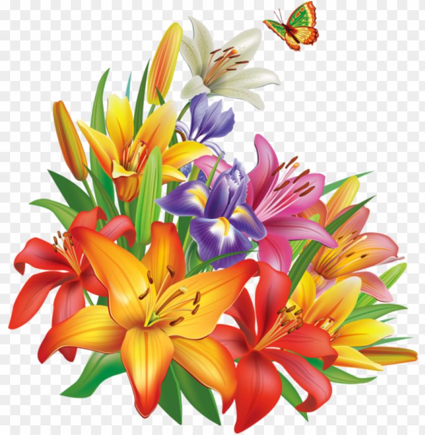 Icture Library Fleurs Flores Flowers Bloemen Png Dekopaj