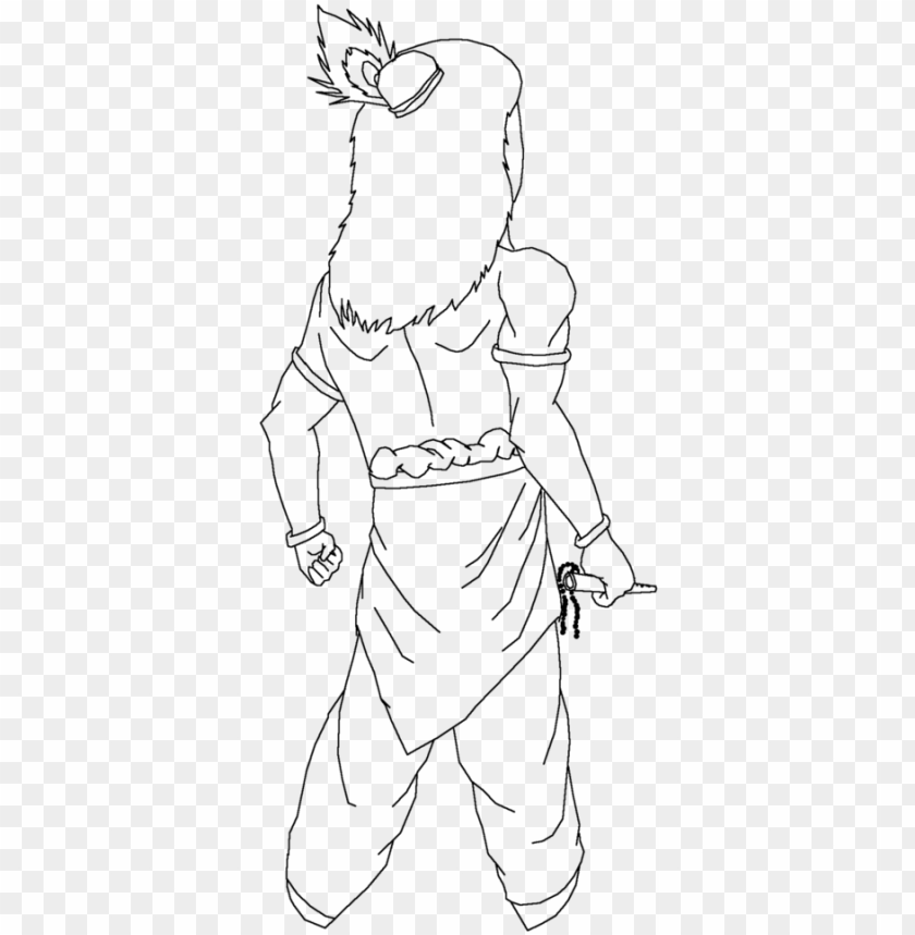 Icture Library Krishna Drawing Line Krishna Line Art Png Image With Transparent Background Toppng