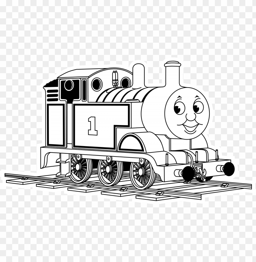 - Icture Library Stock The Tank Engine Coloring Page - Thomas The Tank Engine  Black And White PNG Image With Transparent Background TOPpng