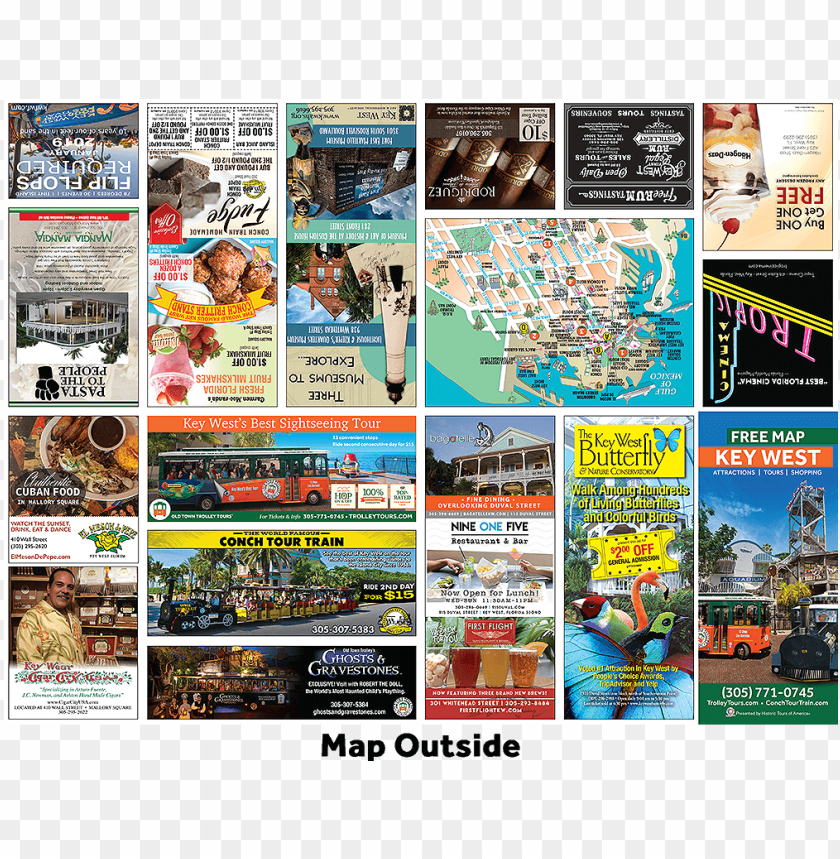 free PNG icture of key west free map brochure outside PNG image with transparent background PNG images transparent