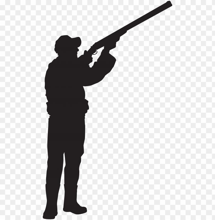 free PNG icture royalty free download silhouette clip art hunter - hunter gun silhouette PNG image with transparent background PNG images transparent