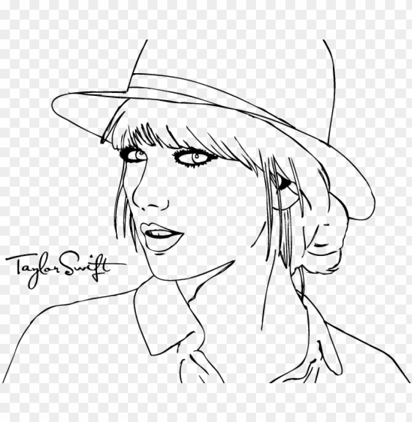 - Icture Stock Taylor Swift - People Coloring Pages To Print PNG Image With  Transparent Background TOPpng