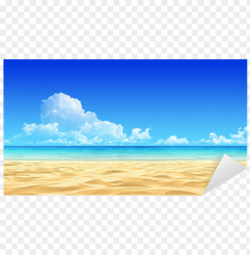 free PNG idyllic tropical sand beach background - beach view PNG image with transparent background PNG images transparent