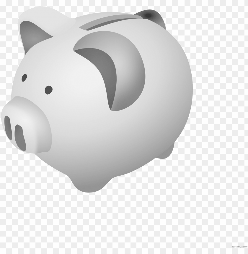 free PNG iggy bank clipart - grey piggy bank transparent PNG image with transparent background PNG images transparent