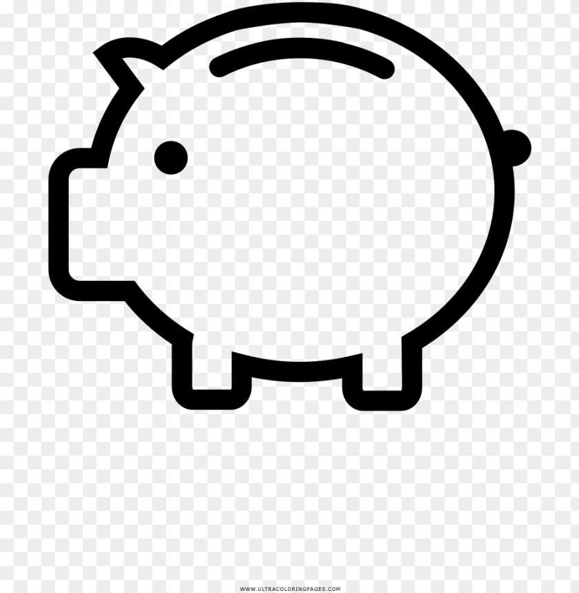free PNG iggy bank coloring page - piggy bank clipart free black and white PNG image with transparent background PNG images transparent
