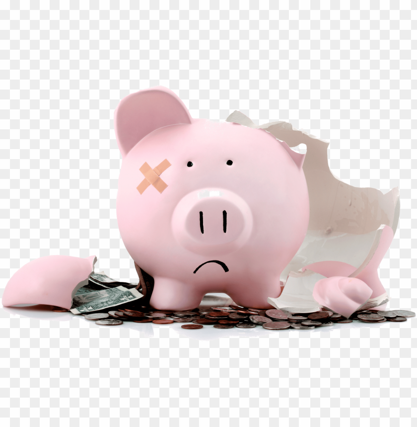 free PNG iggy bank empty - broken piggy bank PNG image with transparent background PNG images transparent