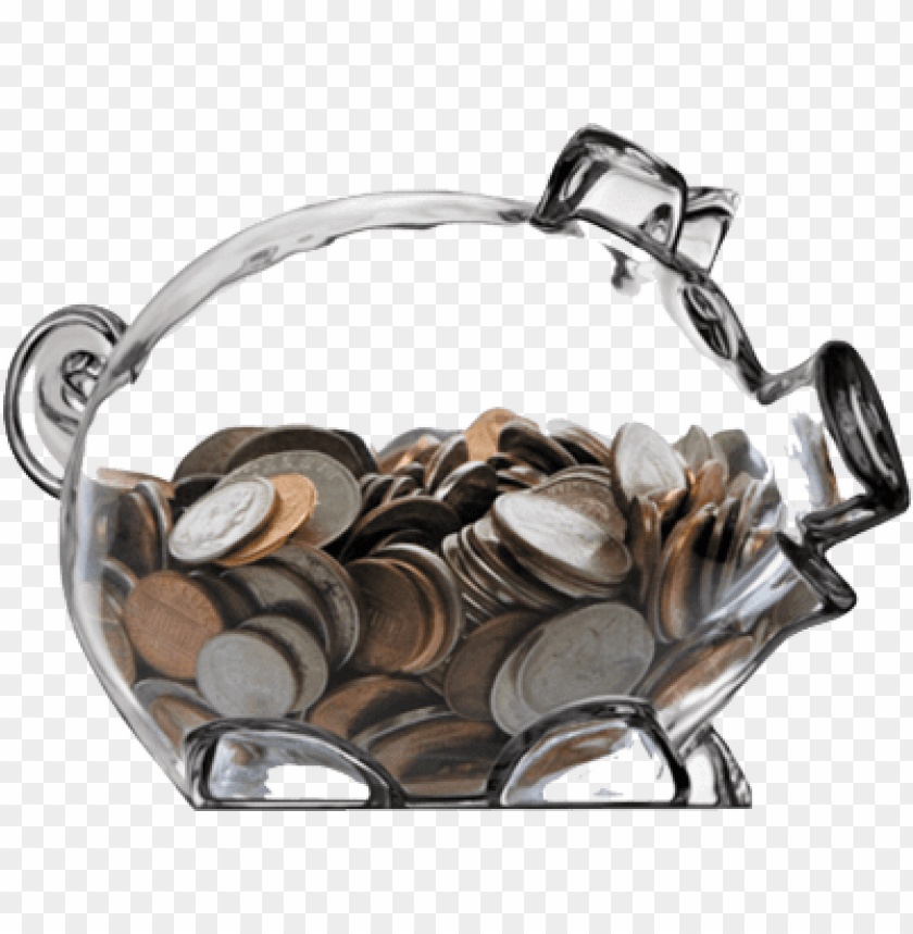 free PNG iggy bank transparent background download - glass piggy bank with money PNG image with transparent background PNG images transparent