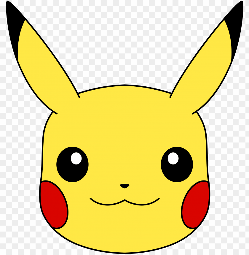 free PNG ikachu face png transparent pikachu face - pikachu face PNG image with transparent background PNG images transparent