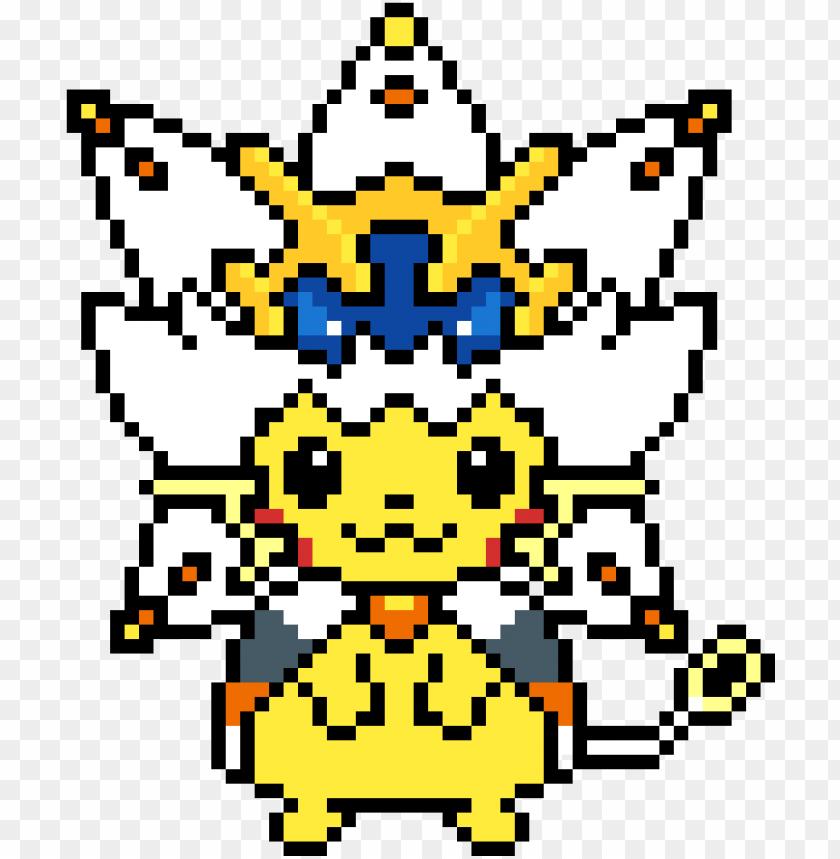 Ikachu In Solgaleo Costume Pixel Art Pikachu Solgaleo Png