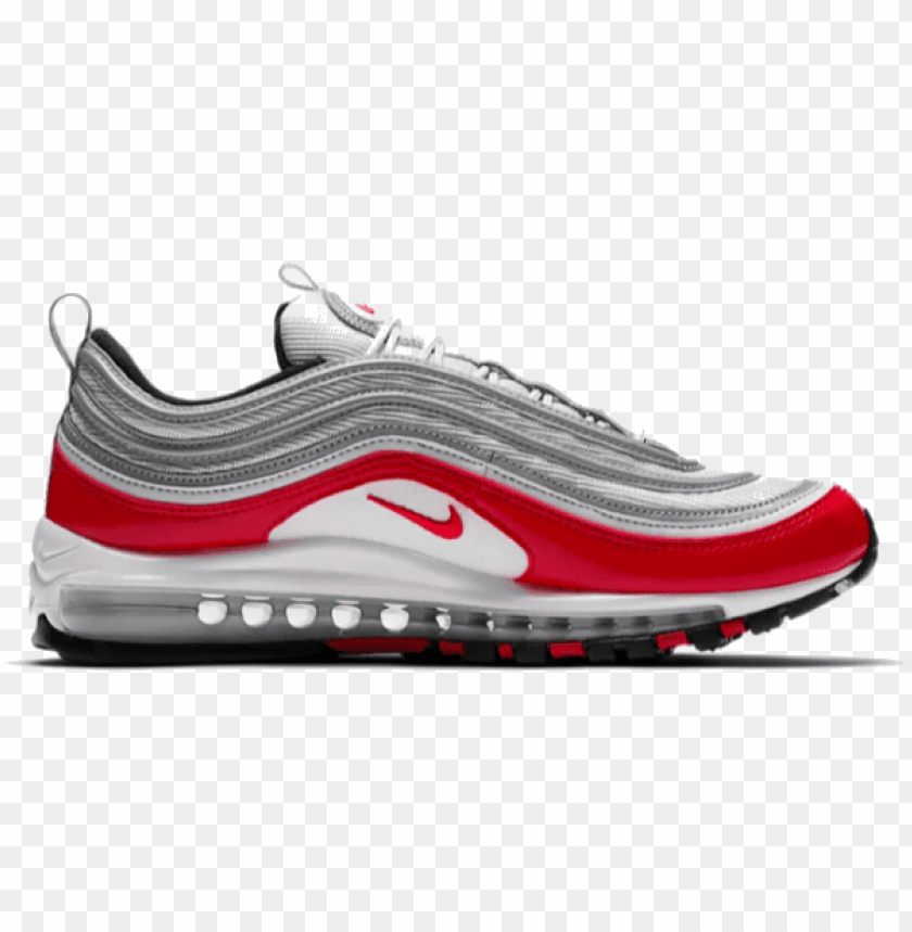 free PNG ike air max 97 shoes - air max 97 pure platinum university red PNG image with transparent background PNG images transparent