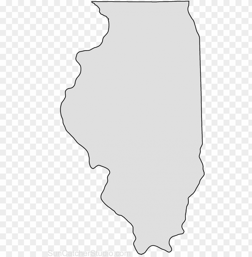 free PNG illinois map outline shape state stencil clip art scroll - state of illinois clip art PNG image with transparent background PNG images transparent