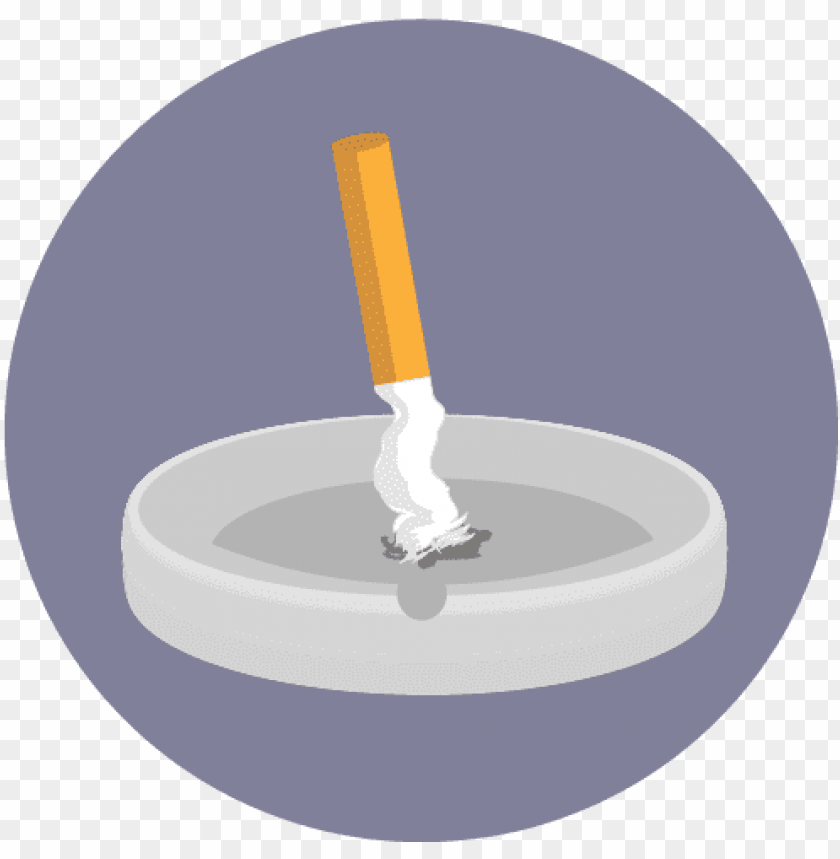 free PNG illustration of an extinguished cigarette in an ashtray - stop smoking ico PNG image with transparent background PNG images transparent