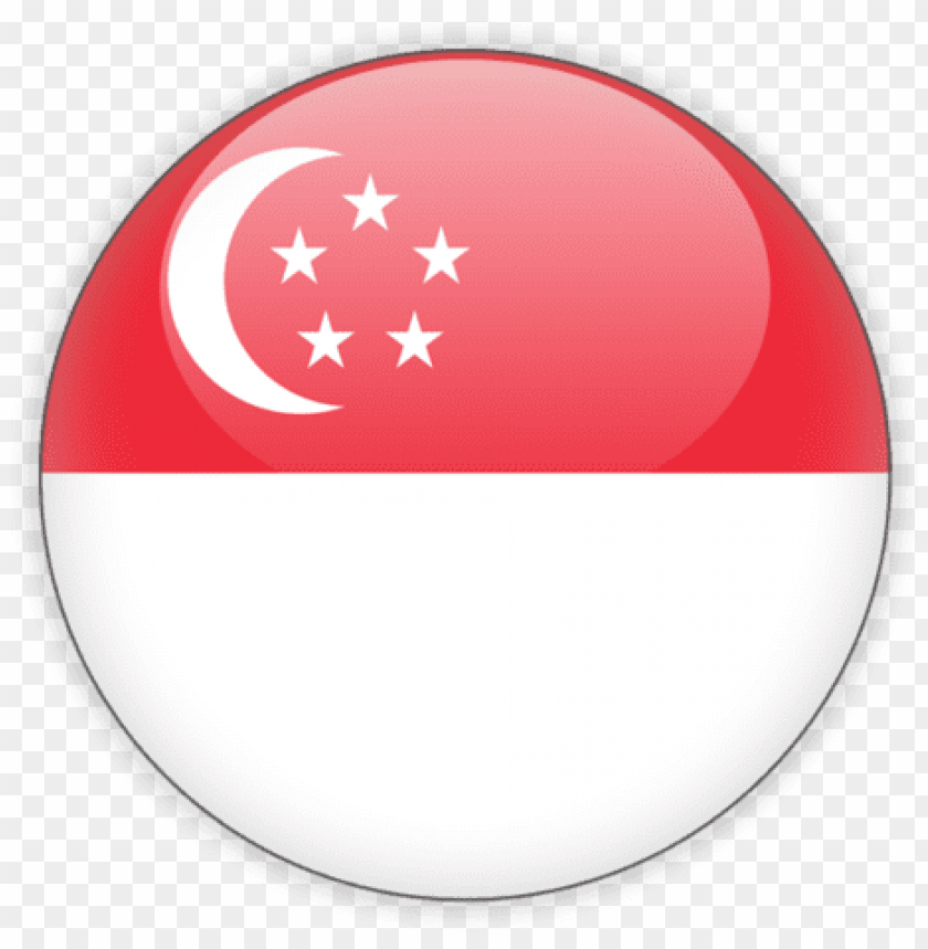 free PNG illustration of flag of singapore - singapore flag round ico PNG image with transparent background PNG images transparent