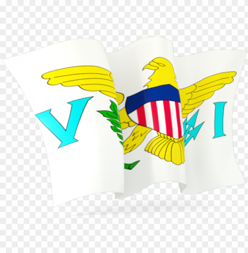 free PNG illustration of flag of virgin islands of the united - crest PNG image with transparent background PNG images transparent