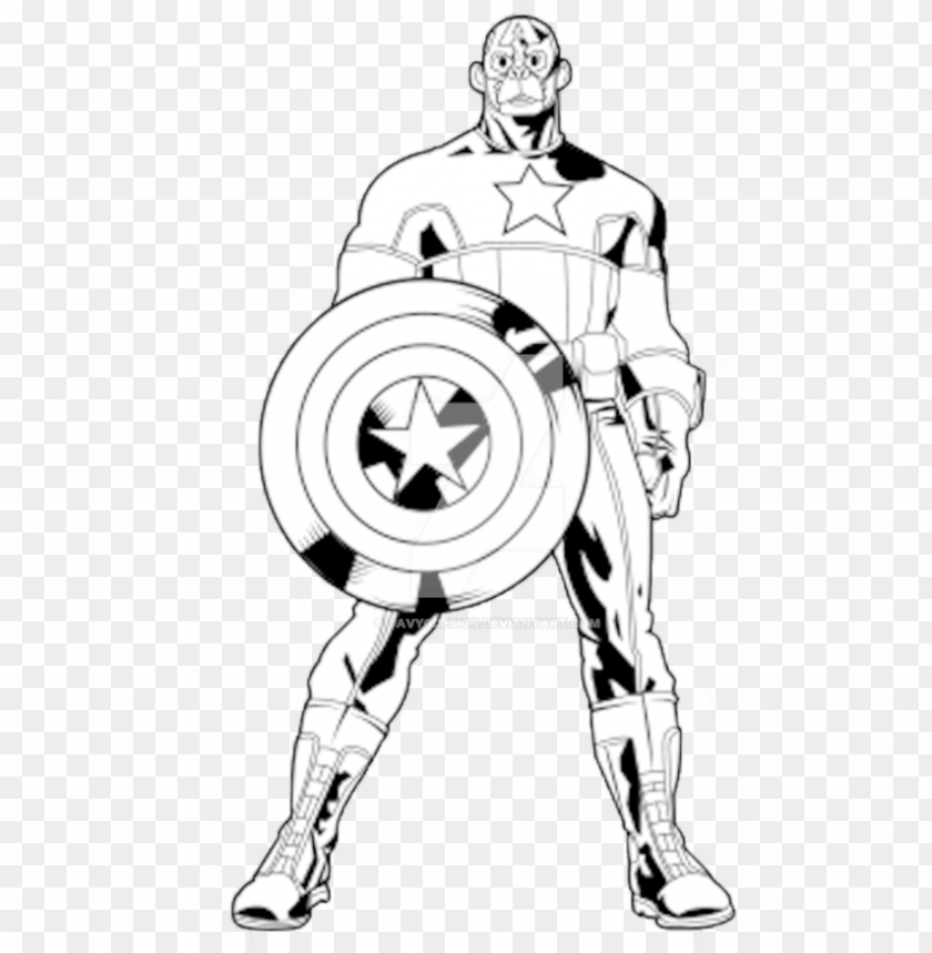 free PNG image black and white captain america clipart black - captain america out line PNG image with transparent background PNG images transparent