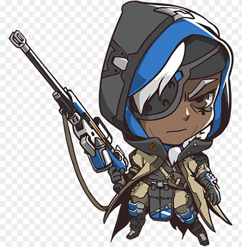 free PNG image cute wiki fandom - overwatch ana cute spray PNG image with transparent background PNG images transparent