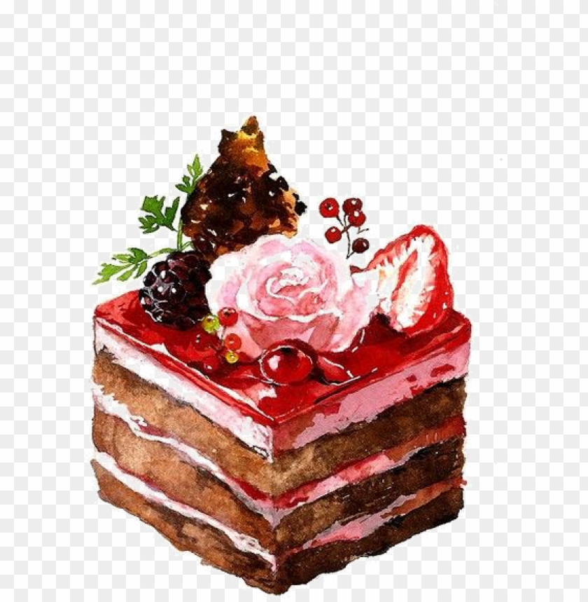 Image Du Blog Zezete2 Cake Watercolor Bread Png Image With Transparent Background Toppng