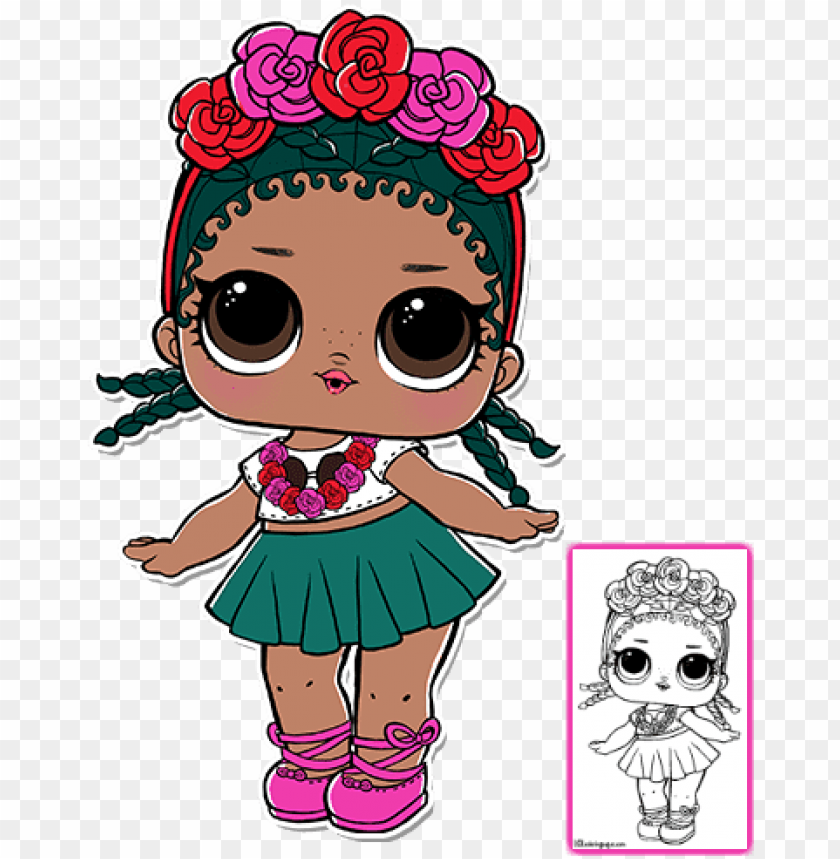 free PNG image freeuse download lol surprise coloring pages - lol surprise coconut qt PNG image with transparent background PNG images transparent