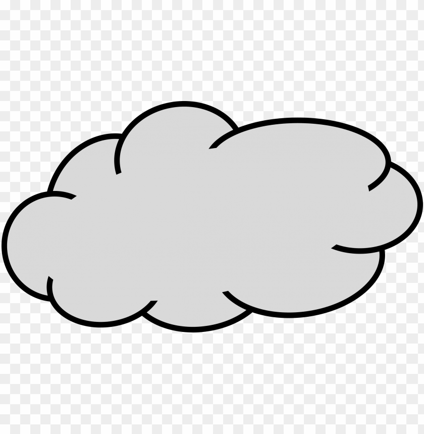 image - grey cloud clipart PNG image with transparent background@toppng.com