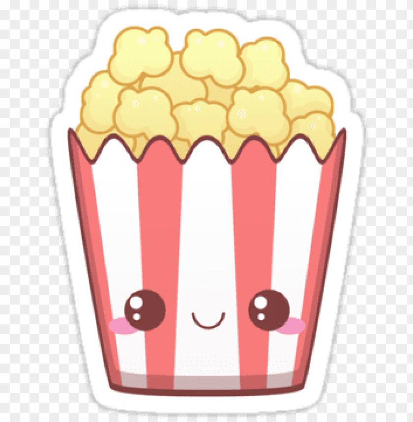 free PNG image result for kawaii popcorn - kawaii popcor PNG image with transparent background PNG images transparent