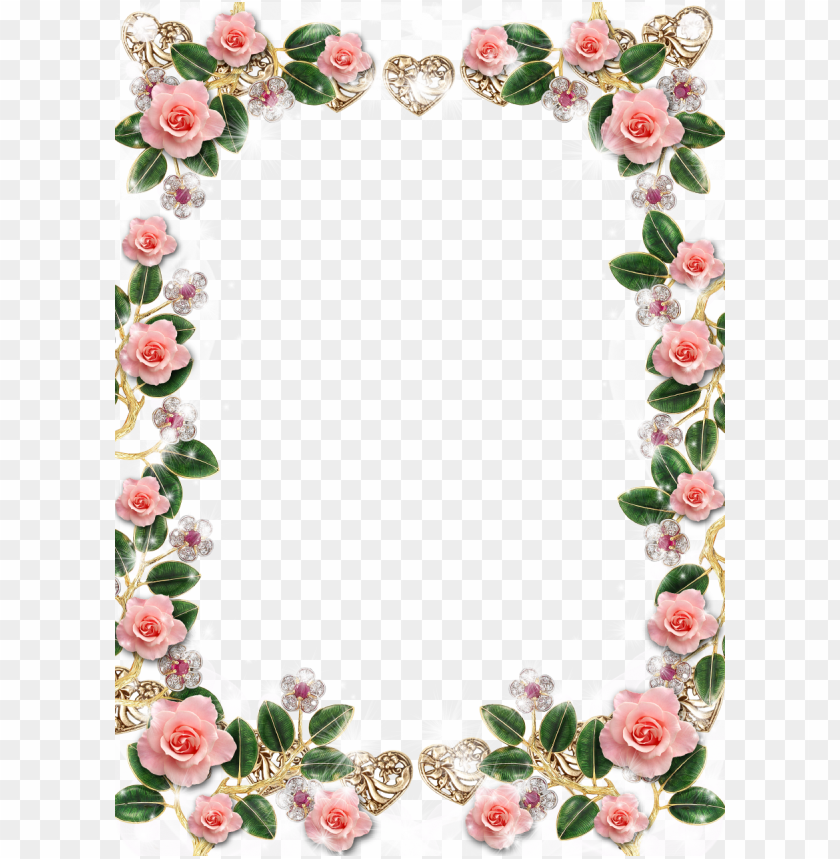free PNG image result for rose flower frame png flower frame - rose flower frame PNG image with transparent background PNG images transparent