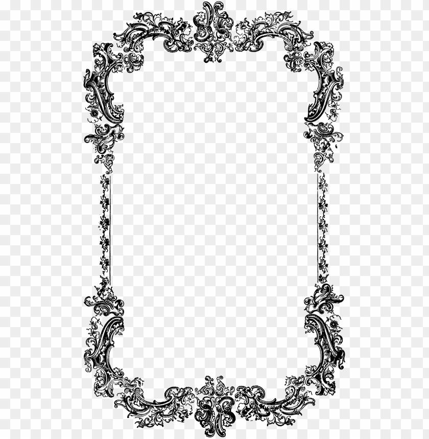 free PNG image result for victorian photo frame frames borders - black and white border vintage PNG image with transparent background PNG images transparent