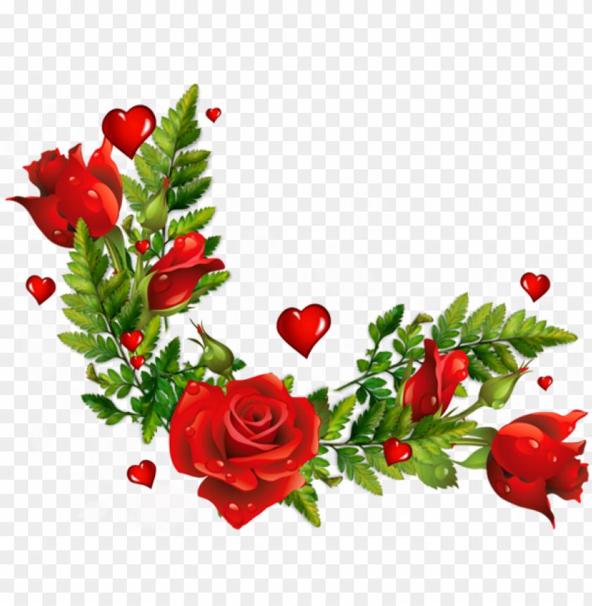 free PNG image result for wildflowers flowers border png - rose flower corner design PNG image with transparent background PNG images transparent