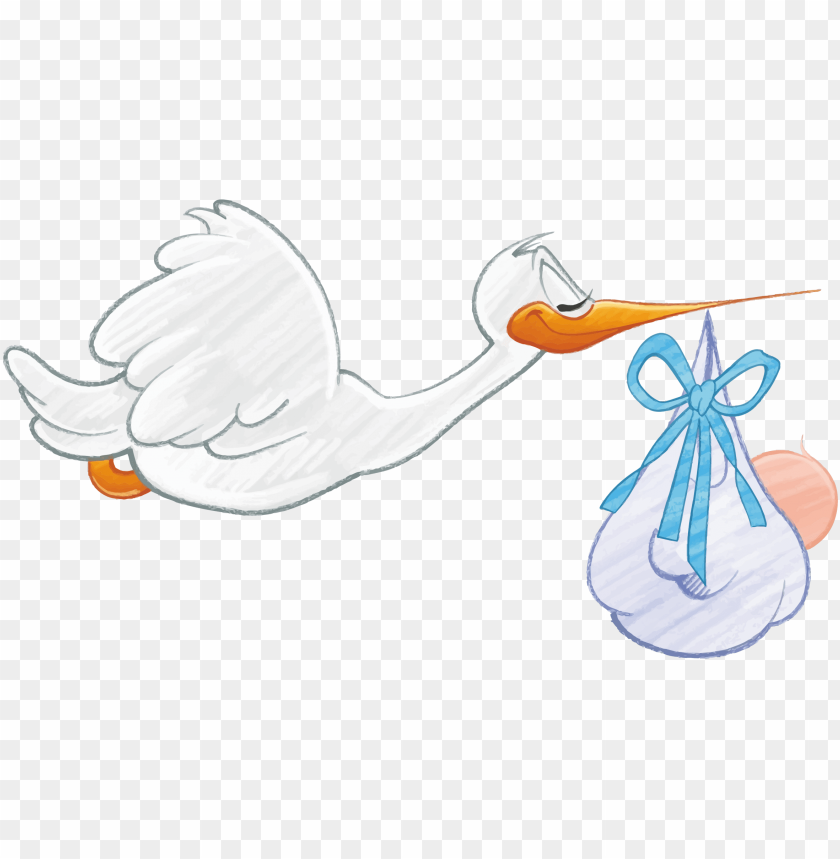 free PNG image royalty free library clipart - stork carrying baby boy PNG image with transparent background PNG images transparent