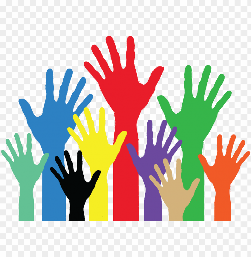 free PNG image showing coloured hands, palm open as in putting - helping hands transparent background PNG image with transparent background PNG images transparent