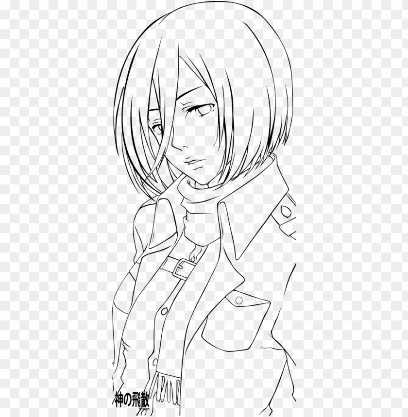 Image Transparent Attack On Titan Attack On Titan Mikasa Lineart Png Image With Transparent Background Toppng
