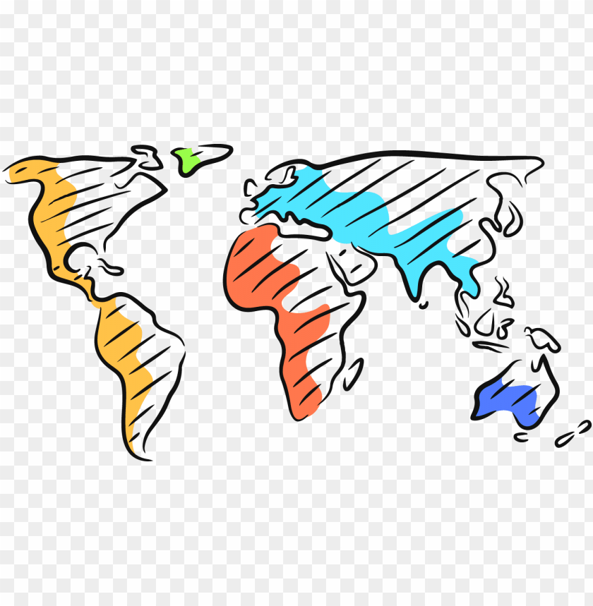free PNG image transparent stock map transparent cartoon - world map cartoon drawi PNG image with transparent background PNG images transparent