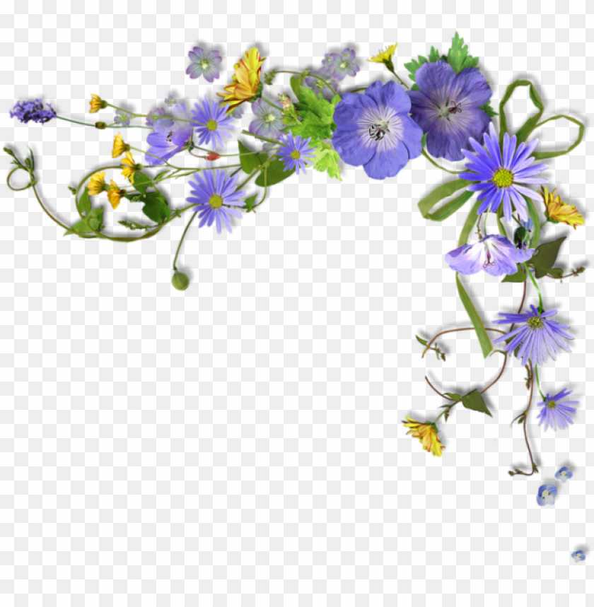 imagen relacionada page borders, borders and frames, - flower border purple PNG image with transparent background@toppng.com
