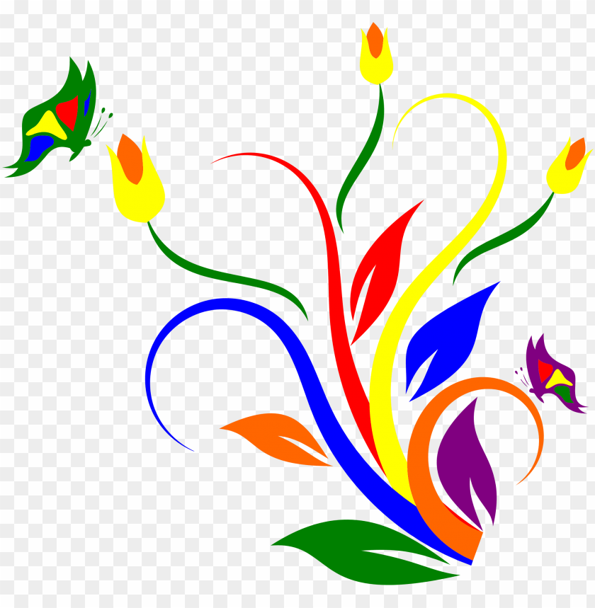free PNG images of flowers and butterflies - clip art flowers and butterflies PNG image with transparent background PNG images transparent
