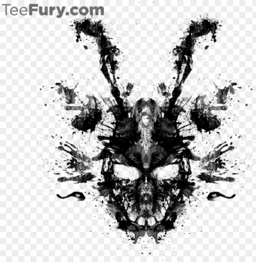 Imaginary Inkblot Frank Donnie Darko Art Png Image With Transparent Background Toppng