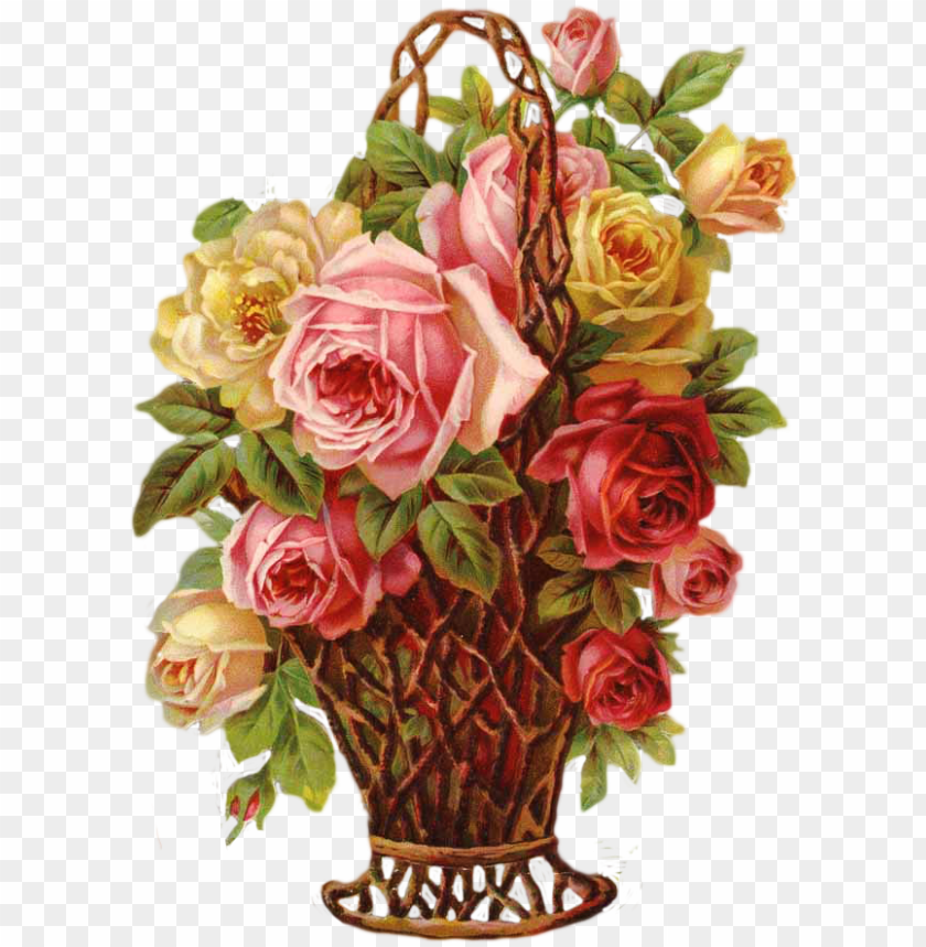 free PNG in by marjatta piironen on victorian scraps - vintage flower basket PNG image with transparent background PNG images transparent