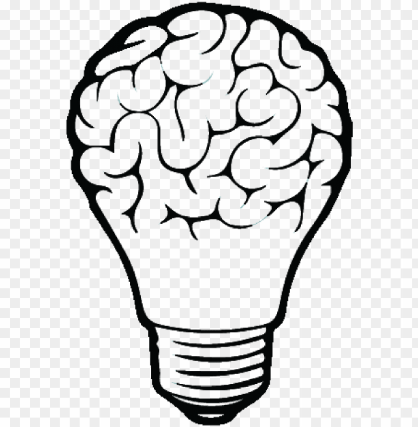free PNG incandescent light bulb drawing brain - brain vector PNG image with transparent background PNG images transparent