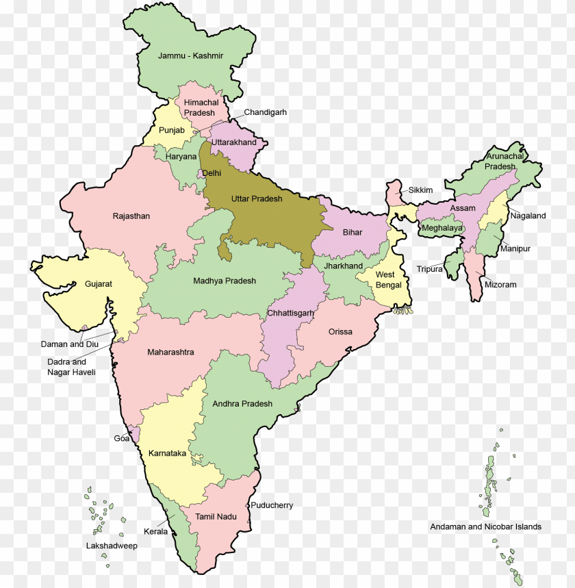 free PNG india map en - high resolution india ma PNG image with transparent background PNG images transparent