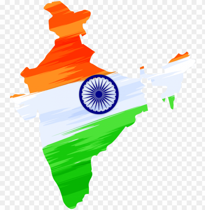 free PNG indian independence day design with map transparent - india independence day 2018 PNG image with transparent background PNG images transparent