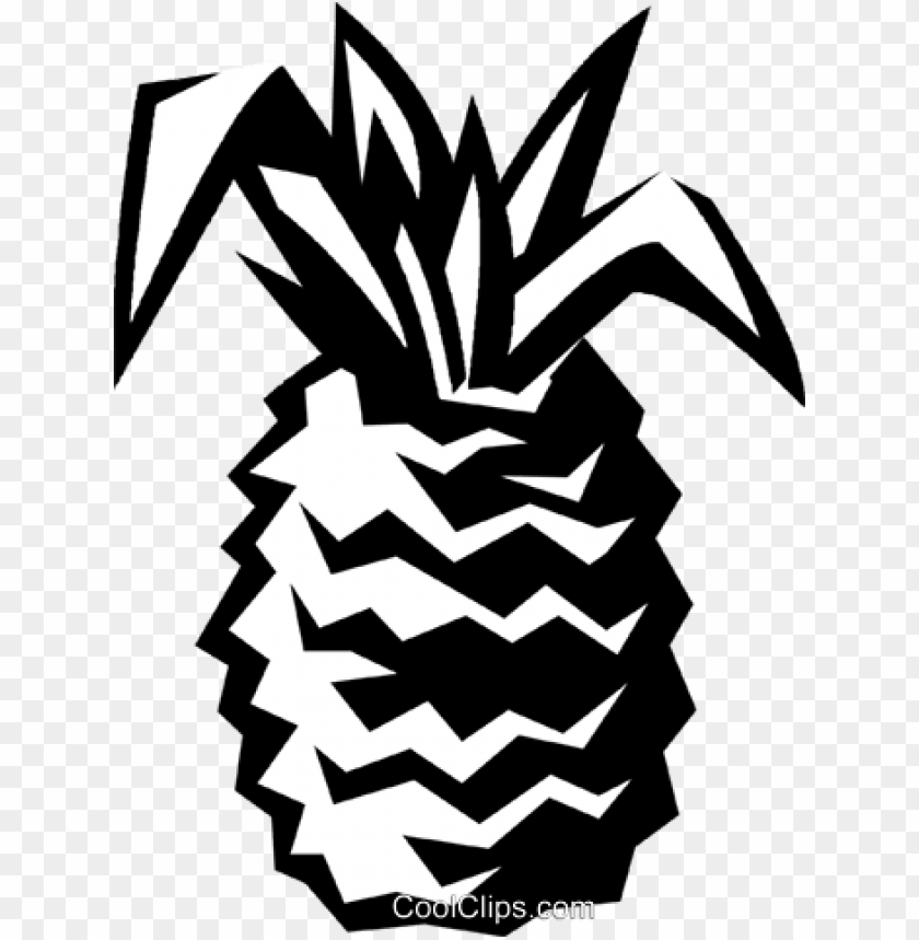 free PNG ineapple royalty free vector clip art illustration - pineapple vector black PNG image with transparent background PNG images transparent