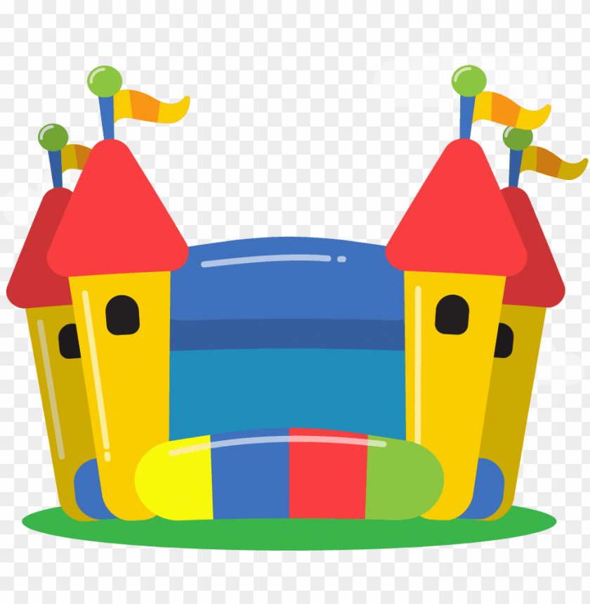 free PNG inflatable fun for all premium, affordable inflatable - bouncy castle silhouette PNG image with transparent background PNG images transparent