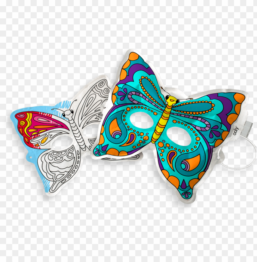 free PNG inflatable, paper butterfly mask from 3d colorables - 3d inflatable butterfly PNG image with transparent background PNG images transparent