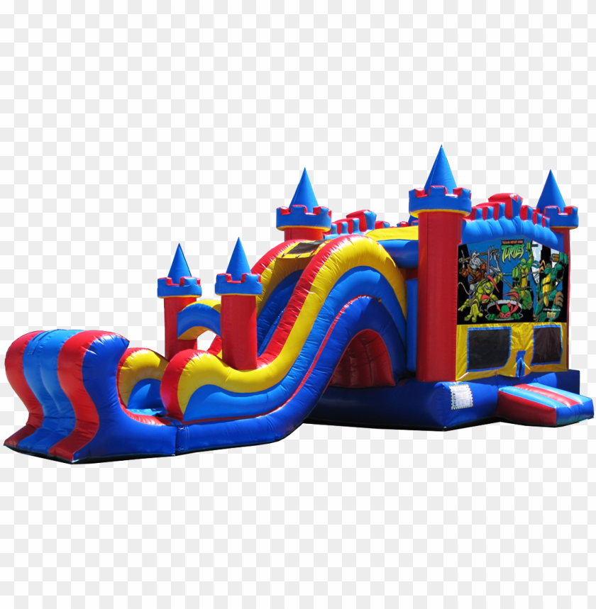 free PNG inja turtles bounce house rental - deluxe bounce house PNG image with transparent background PNG images transparent