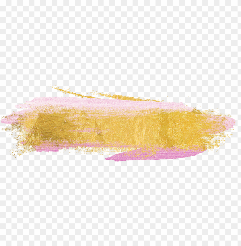 ink and gold png transparent pink and gold - gold brush stroke PNG image with transparent background@toppng.com