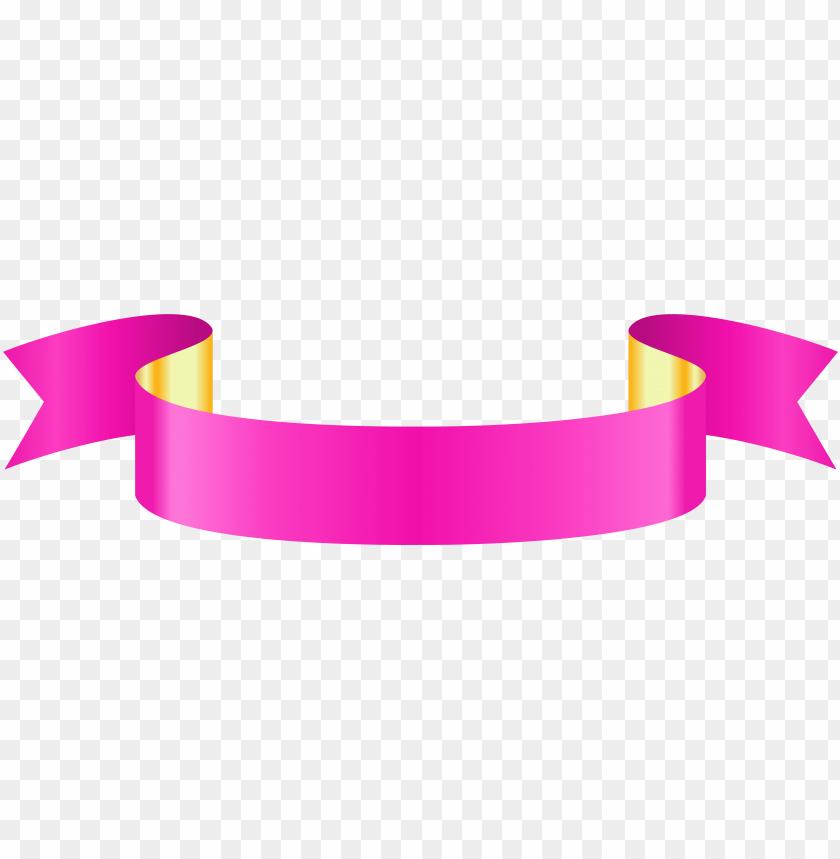 free PNG ink banner - pink ribbon banner PNG image with transparent background PNG images transparent
