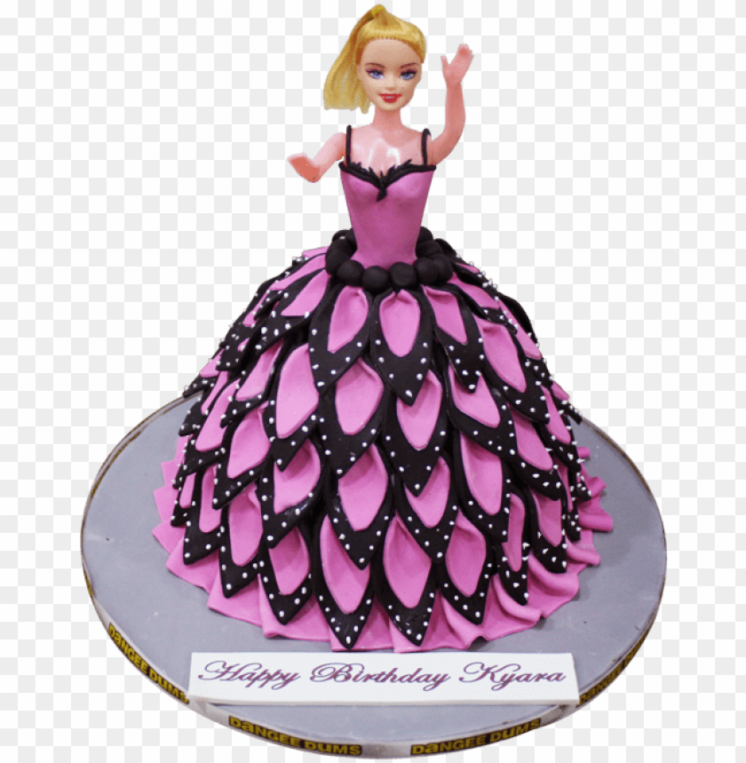 Pleasing Ink Black Barbie Doll Cake Barbie Doll Cake Png Image With Birthday Cards Printable Opercafe Filternl