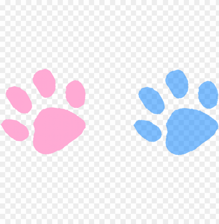 Ink Clipart Paw Print Blue And Pink Paws Png Image With Transparent Background Toppng Pink and white dog paw prints tile pattern repeat background. ink clipart paw print blue and pink