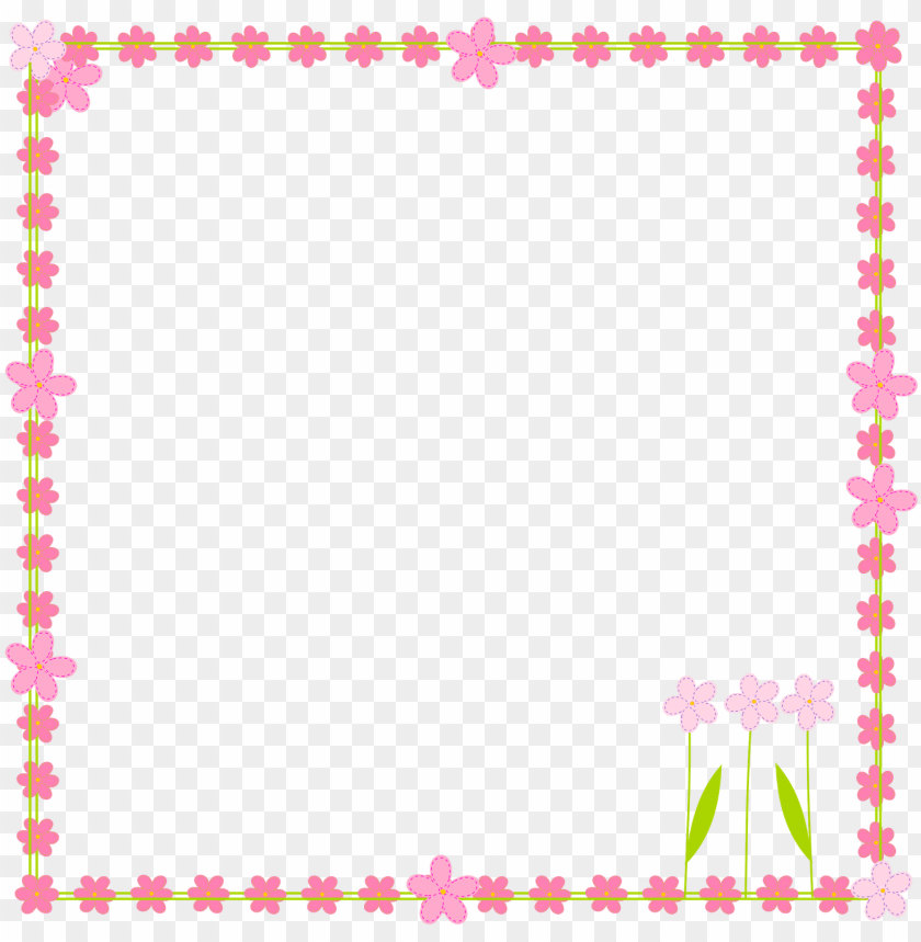 free PNG ink flower border clip art - simple flower border clipart PNG image with transparent background PNG images transparent
